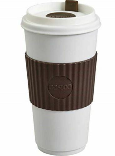 Mug With Spillproof Lid Insulated BPA Oz Pack Brown