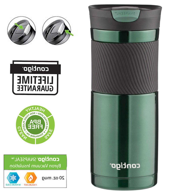 Travel Coffee Mug Stainless Steel Thermos 20oz Greyed