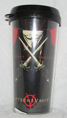 TRAVEL MUG COFFEE THERMOS HOME KITCHEN HOT V FOR VENDETTA MO