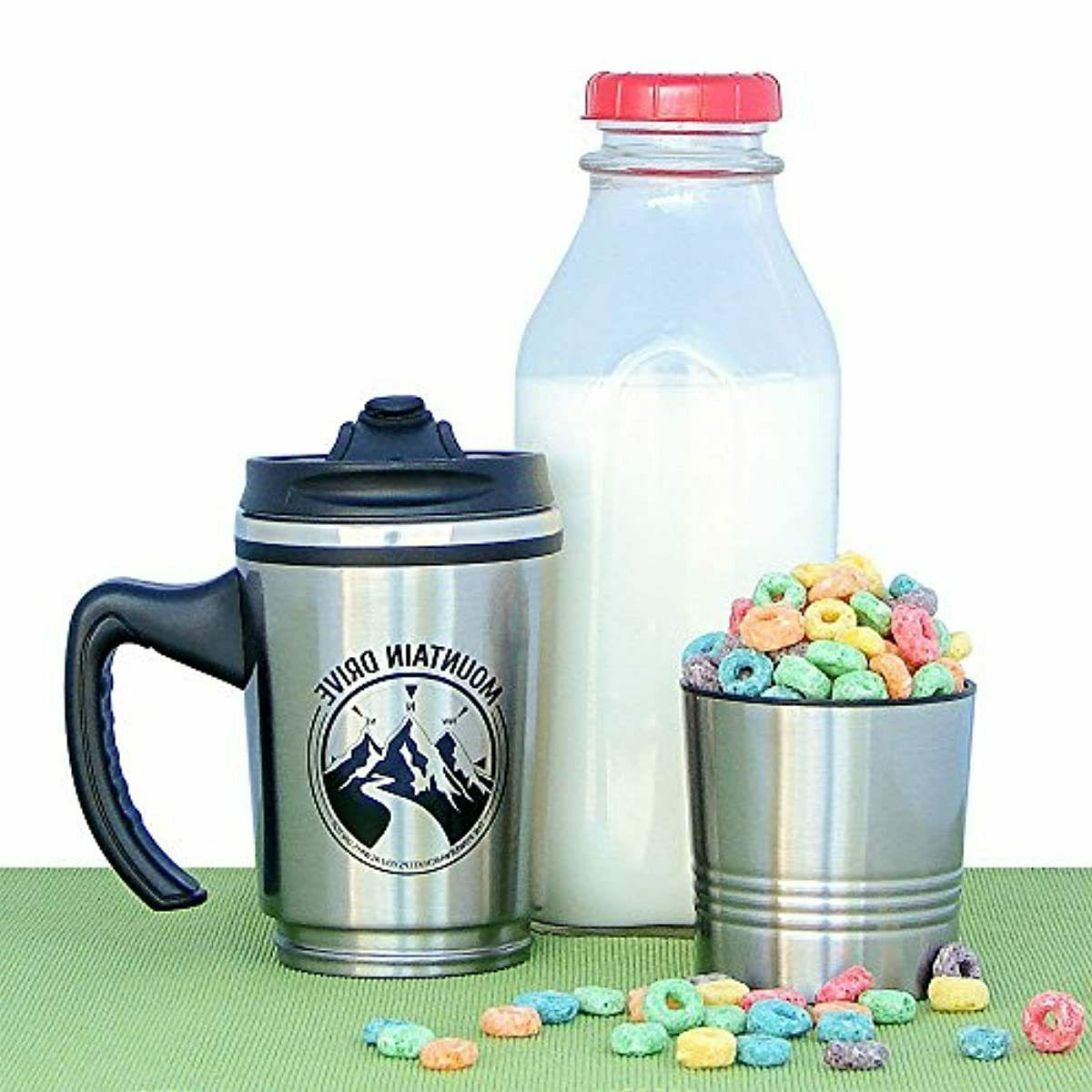 Travel Mug Wall Coffee Stainless Steel With Handle Insulated Oz