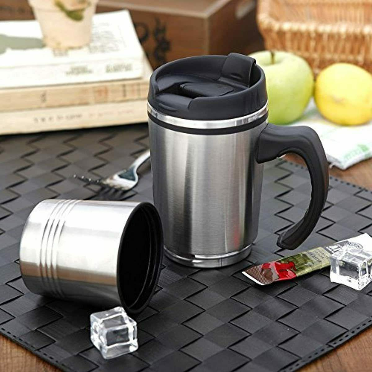 Travel Coffee Stainless With Handle Insulated Oz
