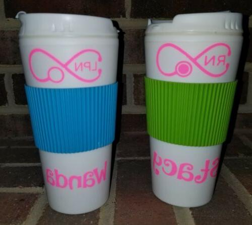 💜 Travel Tumbler Cup with Lid Personalized Monogram