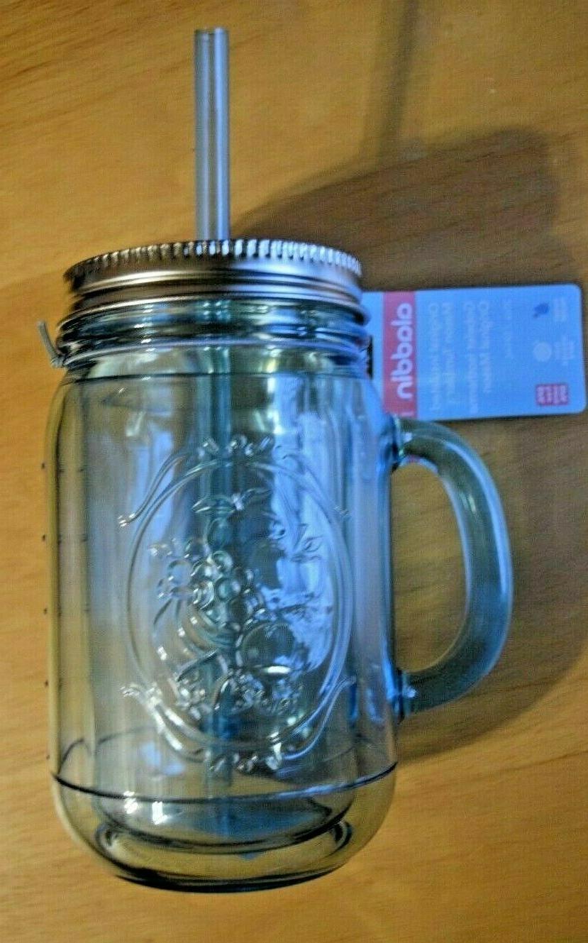 tumbler mason mug insulated classic straw 20