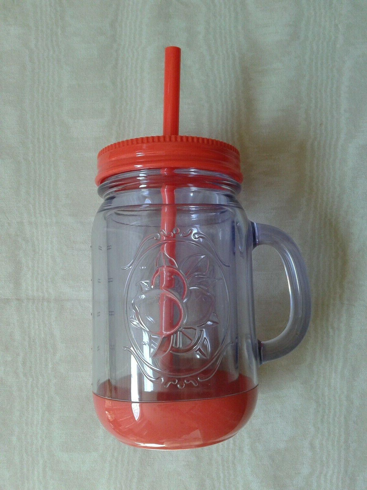 Aladdin Tumbler Insulated Handle, and Straw 16oz, NEW
