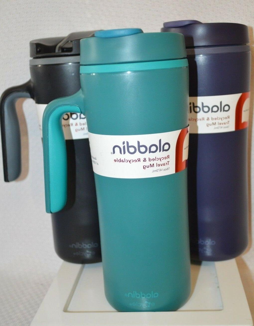 U Choose ALADDIN Travel MUG Recycled eCycle Blue GREEN Black