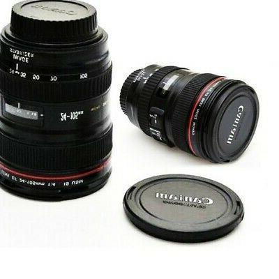 Stainless Steel Home Travel Mug Coffee Tea Cup Camera Lens S
