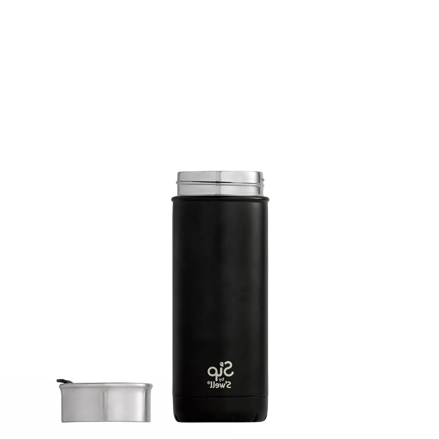 Vacuum Insulated Stainless Travel Mug 16oz Coffee Black