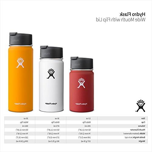 Hydro Flask 12 Vacuum Insulated Stainless Water Bottle, Mouth w/Hydro Flip