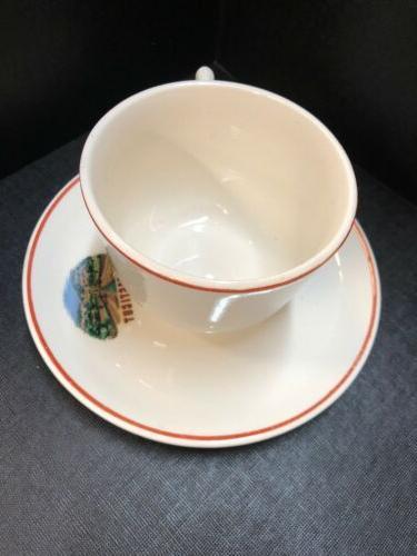 VINTAGE STATE Mug Tea Cup & Saucer Travel USA