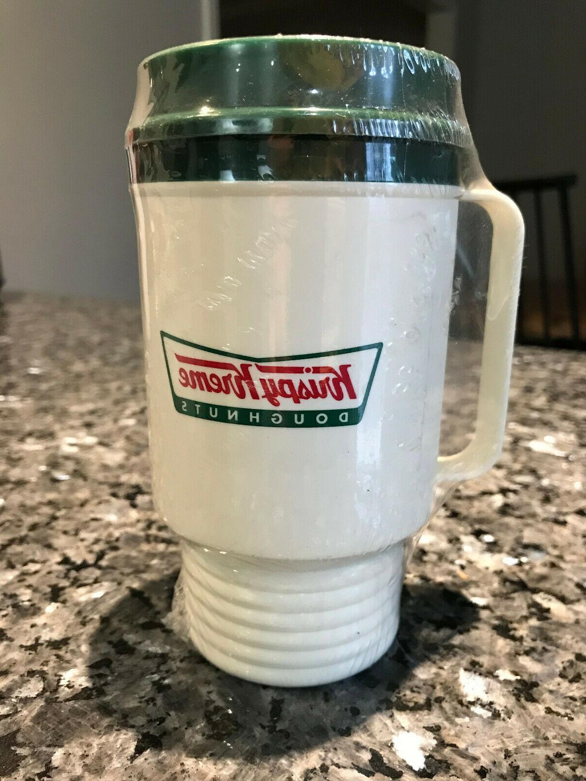 vintage krispy kreme coffee cup mug plastic