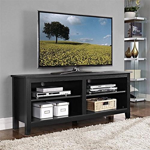wood tv console