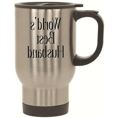 World's Best Husband Travel Mug With Lid 14 oz Stainless Ste