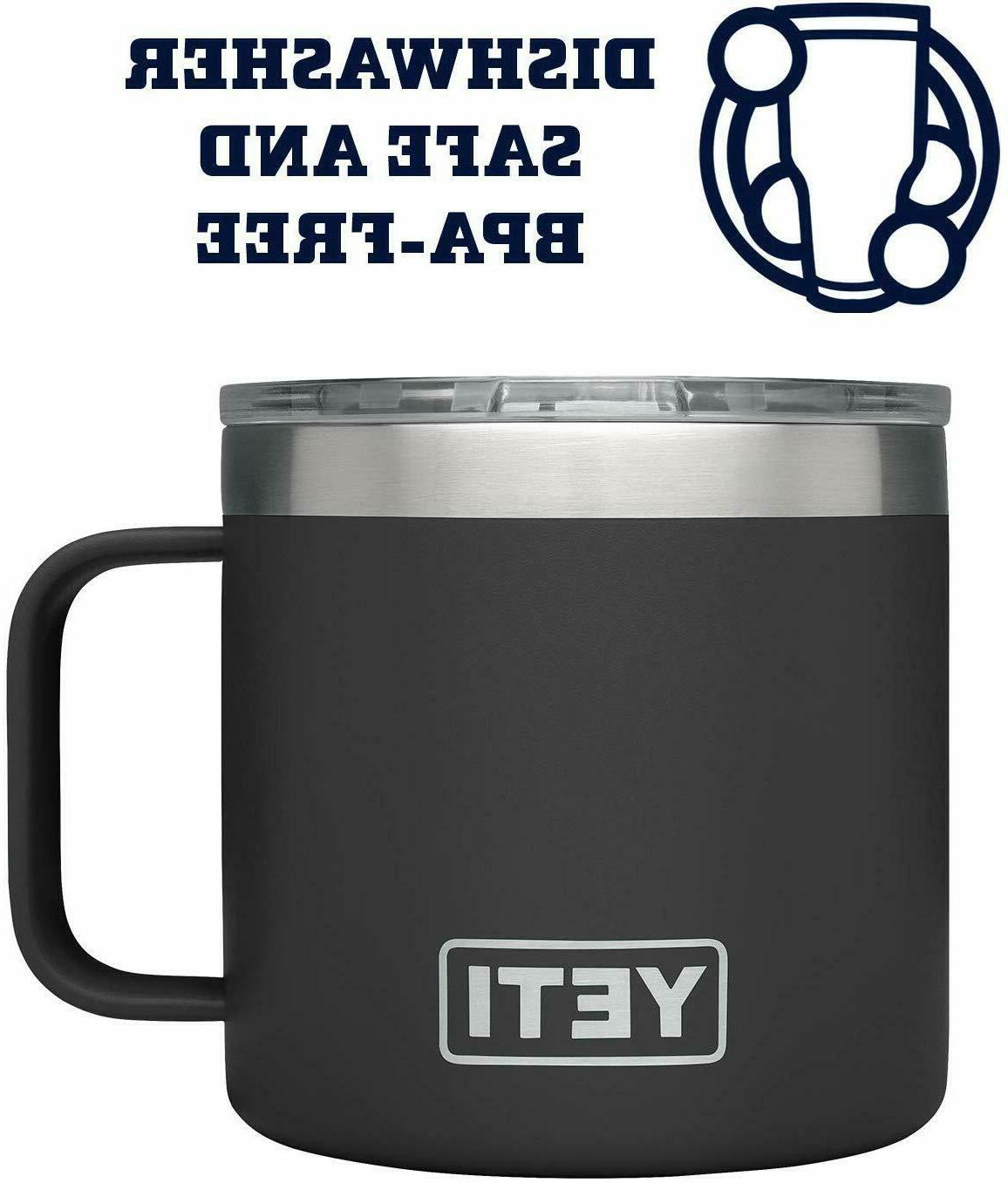 Yeti Insulated Cup Stainless Travel Handle Lid 14oz