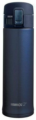 Zojirushi SM-KHE48AG Stainless Steel Mug, 16oz, Smoky Blue M