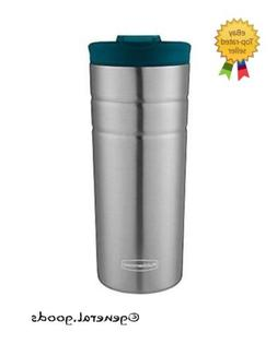 Rubbermaid Leak Proof Flip Lid Thermal Bottle, 16 oz., Lagoo