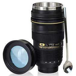Camera Lens Coffee Mug With Cute Spoon,Photo Coffee Mugs Sta