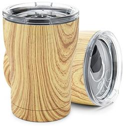 Light Woodgrain 12 Oz. SIC  Stainless Steel Tumbler Double W