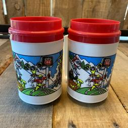 Lot 2 VTG Aladdin Coffee Cup 90's Design Year Round Sports