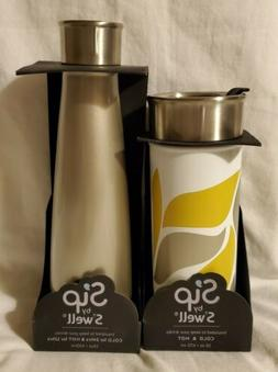 Lot of 2 Sip by Swell Insulated Travel Mug & Vacuum Water Bo