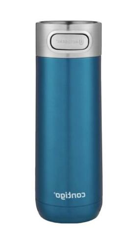 Contigo Luxe Autoseal Stainless Steel Travel Mug, Teal Blue,