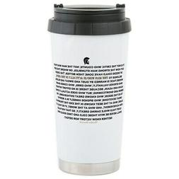 CafePress Man In The Arena Stainless Steel Travel Mug Stainl