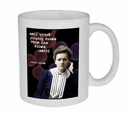 Genius cup Marie Curie Image and Quote Coffee or Tea Mug Per