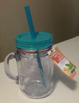 Aladdin Mason Jar Mug Thermal Classic Straw 20 oz Jar New, C