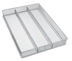 Copco Large Mesh 3-Part In-Drawer Utensil Organizer, Silver