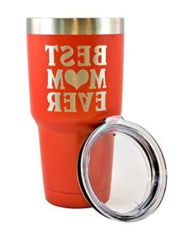 MOM GIFT – Engraved BEST MOM EVER Stainless Steel Tumbler