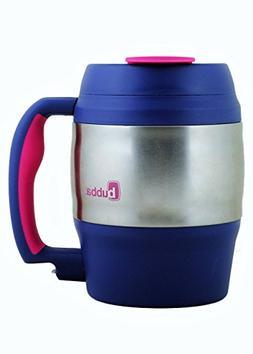 bubba 52 oz mug classic navy with pink trim New