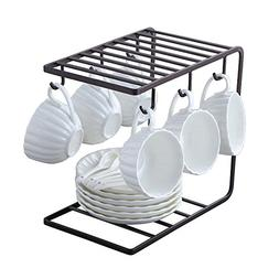 7U Metal Coffee Mug Cup Holder Organizer Stand for Cabinet,