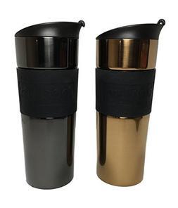 Bodum 15oz Travel Mug Set Double Walled Vacuum Sealed 18/10