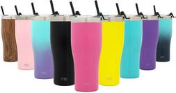 NEW 32oz Tumbler With Straw Travel Mug Gift Double Wall Vacu