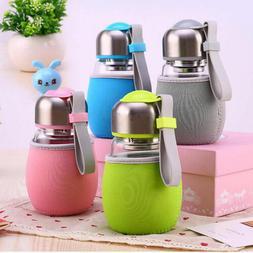 New 400ML Glass Water Bottle Cup Travel Sports Mug/ Tea Filt