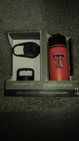 New in box, Texas Tech Insulated Stainless Steel 18oz Travel