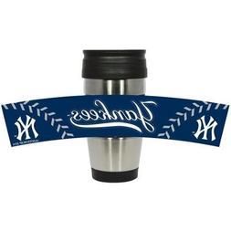 New York Yankees 15 oz Stainless Steel Travel Mug Tumbler wi