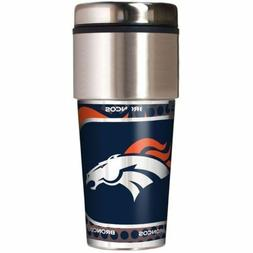 NFL Denver Broncos 360 Wrap Travel Tumbler Football Fan Coff