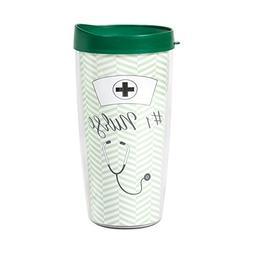 Number One Nurse Herringbone Mint Green Wrap 16 Oz Travel Tu