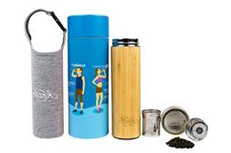 Organic Bamboo Tumbler with Tea Infuser & Strainer by Kozy K
