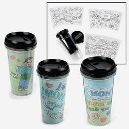 Color Your Own Mom Artist Travel Mugs - Crafts for Kids & Co