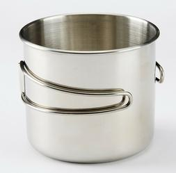 Ozark Trail 18 OZ STAINLESS STEEL CAMPING CUP Foldable Handl