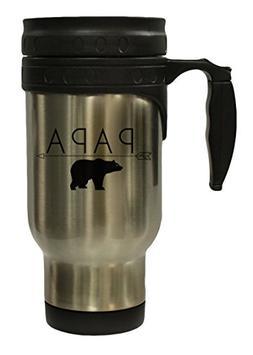 Papa Bear Funny Dad 12 oz Hot/ Cold Travel Mug