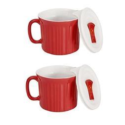 CorningWare Colours Pop-Ins 20-oz Mug w/ Vented Lid - 2 Pack
