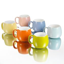 Panbado KT047 6 Piece Porcelain 6 Colors Chunky Mugs Ceramic