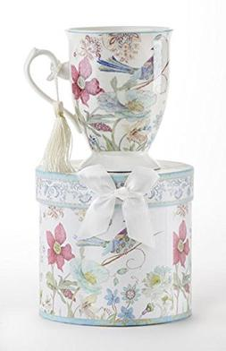 "Delton Product Porcelain Mug in Gift Box Partridge 4.6"" Inch"