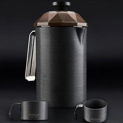 Portable French Press Mug Outdoor Coffee Plunger Maker Trave