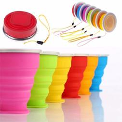 Portable Silicone Folding Water Tea Cup <font><b>Mugs</b></f