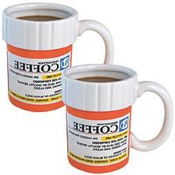 The Prescription Pill Medicine Coffee Cup Mug Set of 2
