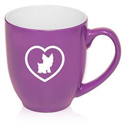 16 oz Purple Large Bistro Mug Ceramic Coffee Tea Glass Cup Y