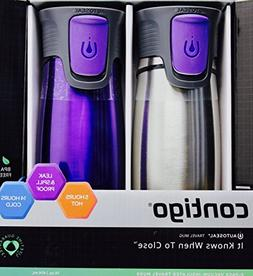 Contigo Purple Travel Mug Stainless Steel AutoSeal 14 oz, 2-